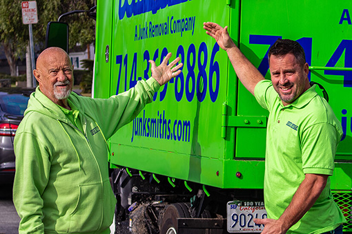 We're local! Junk Smiths is a 100% locally owned junk removal company, not a big, out-of-state franchise.